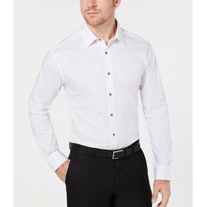 Alfani slim fit stretch white button down. 16-16.5